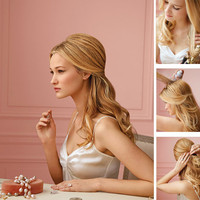 Pretty Bridal Hair Tutorial: Half Up Half Down - StumbleUpon