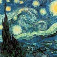 Starry Night – Vincent Van Gogh Cross Stitch Pattern | Los Angeles Needlework