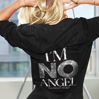 New Victoria's Secret Supermodel Essentials I'm No Angel Bling Hoodie M