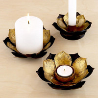 Lotus Candleholders, Sets of 2