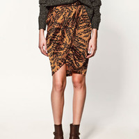 DRAPED SKIRT - Collection - Skirts - Collection - Woman - ZARA United States