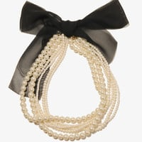 Pearlescent Chiffon Necklace