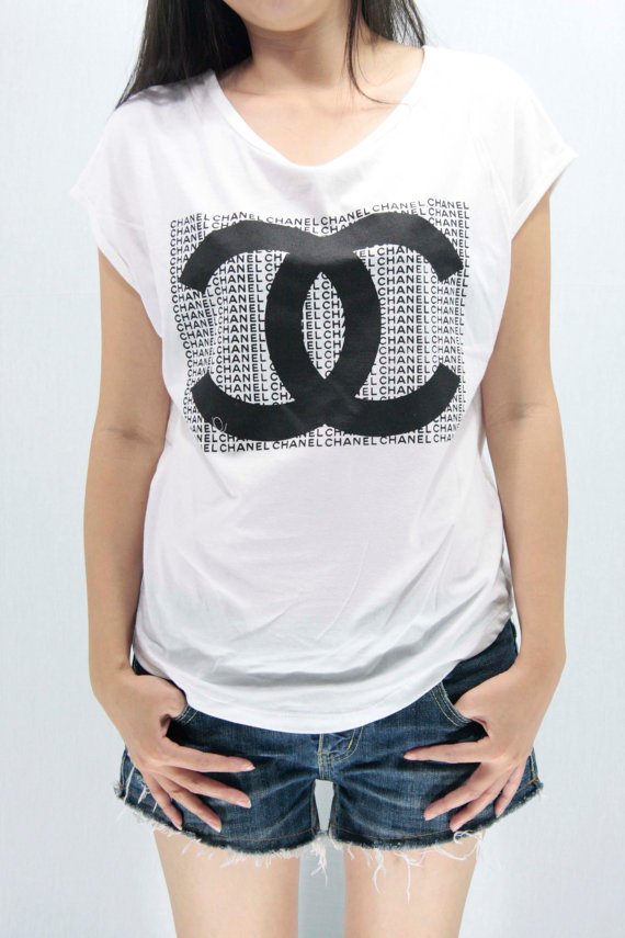 Chanel coco chanel t shirts tank top from cafetshirt on for Chanel logo t shirt to buy