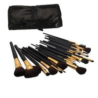 Amazon.com: 32 Pcs Elegant Professional Beauty Cosmetic Makeup Brush Set Kit with Free Case: Beauty