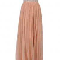 Rachel Gilbert - Apricot Yasmina Gown - Evening Dresses - designer dress, designer dresses, online fashion, fashion dress, australian fashion, racewear, online clothes, fashion