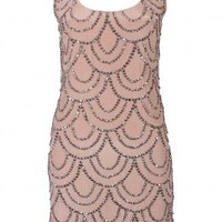 Rachel Gilbert - Nude Scala Dress - Evening Dresses - designer dress, designer dresses, online fashion, fashion dress, australian fashion, racewear, online clothes, fashion