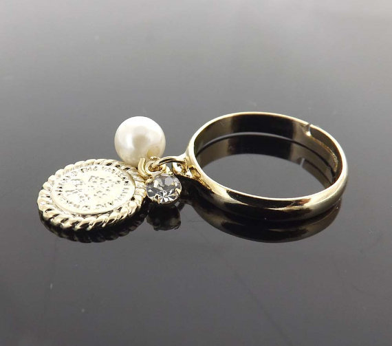 friendship ring coin ring from jewelrycraftstudio on etsy