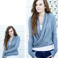 Dimgray Wrap Cardigan [3262] - $37.00 : Vintage Inspired Clothing &amp; Affordable Fall Frocks, deloom | Modern. Vintage. Crafted.