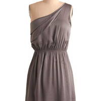 Pewter Than Ever Dress | Mod Retro Vintage Printed Dresses | ModCloth.com