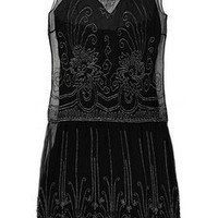 Ralph Lauren Collection|Abigail beaded silk-chiffon dress|NET-A-PORTER.COM