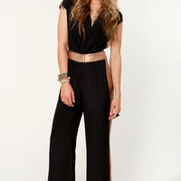 Truth Ore Dare Bronze and Black Jumpsuit