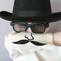 Boys Shirt Secret Agent Organic Cotton Long by TheCuddleLoom