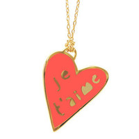 Yellow Owl Workshop: Je T'Aime Heart Necklace, at 25% off!