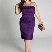 Plus Size Cybelle Cocktail Dress in Orchid  by IGIGI