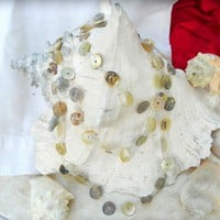 Endless Mother of Pearl 70 Long Necklace Sea Shell Eco Friendly