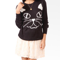 Feline Graphic Sweater