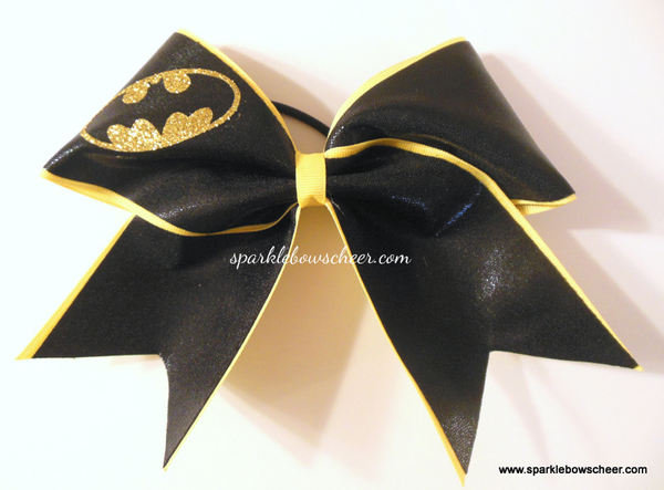 Batty Super Hero Cheer Bow Cheerleading