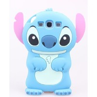 Easy Joyance Blue Disney 3d Lilo&stitch Silicone Case Cover for Samsung Galaxy S3 I9300