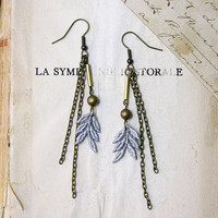 lace earrings AMERLA by whiteowl on Etsy
