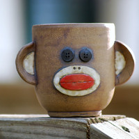 Sock Monkey Yunomi Cup Mug