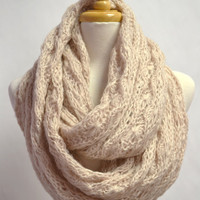 Loose Knitted Buttery Soft Chunky Circle Infinity Loop Eternity Scarf Snood Cowl