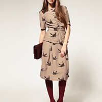 ASOS | ASOS Bird Print 40's Tea Dress at ASOS