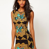 Lipsy Mirror Print Dress at asos.com