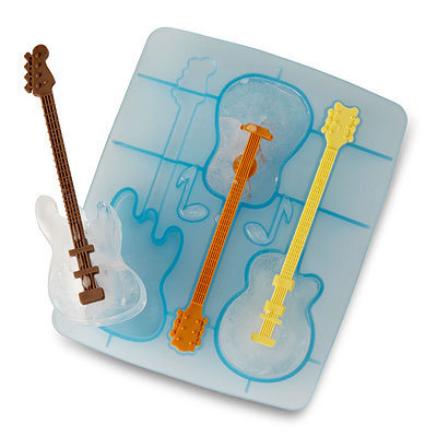 COOL JAZZ ICE STIRRERS | Guitar Shaped Ice Cube Trays | UncommonGoods