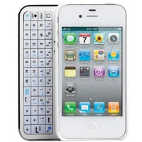 iMounTek Apple iPhone 4 Sliding Bluetooth Hardshell Keyboard Case(white)