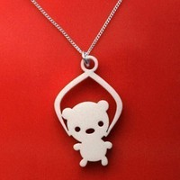 Toy Grabber Necklace -Bear