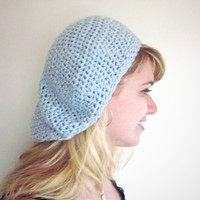 Crochet Slouchy Hat Seaside Slouch Hat in Snow