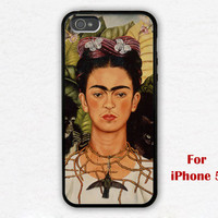iPhone 5 Case, frida kahlo iphone 5 case, frida kahlo Self Portrait iphone 5 case, black iphone 5 case