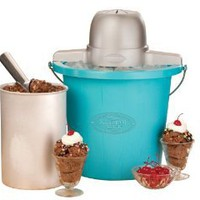 Amazon.com: Nostalgia Electrics ICMP-400BLUE 4-Quart Electric Ice Cream Maker: Kitchen & Dining