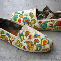 Custom TOMS  Big Paisley by triSERIFtops on Etsy