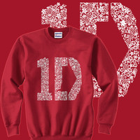 1D One Direction Floral Size SMLXLXXLXXXL Unisex Sweatshirt