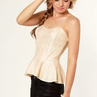 Like a Million Bucks Gold Bustier Top