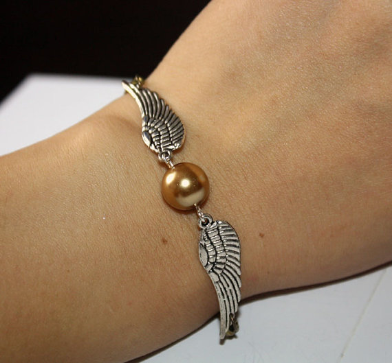 Golden Snitch Bracelet In Silver Steampunk Harry by BeautyandLuck