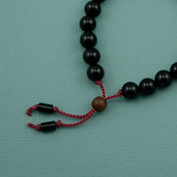 Black Onyx Wrist Mala - tibetan prayer beads - buddhist bracelet