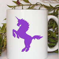 Purple Unicorn Coffee Mug gift