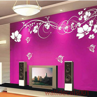 Vinyl Wall Decal Wall StickerFlower butterfly by walldecals001
