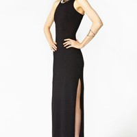 Long Night Maxi Dress - Black