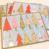 Oh Christmas Tree - Set of 4 Christmas Note Cards