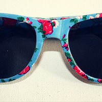 ♥ Sweet Floral ♥ vintage Retro Lady Party Sunglasses