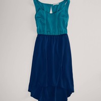 AE Chiffon Hi-Lo Dress | American Eagle Outfitters