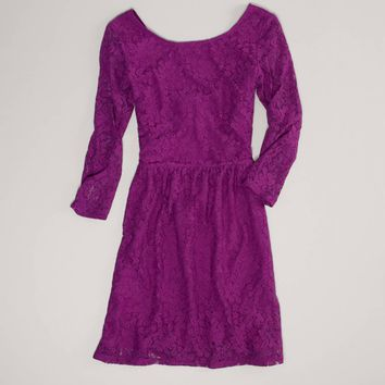 AEO Women's Lace Open Back Dress