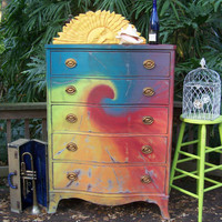 Tie Dye Dresser