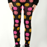 Carmen Smiley Neon Knitted Leggings