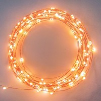 Starry Starry Lights - Warm White Color - 20ft LED String Light with 120 Individual LED's - Includes Power Adapter