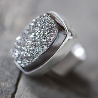 Metallic Drusy Ring by dollybirddesign on Etsy