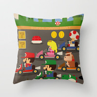 mario kart Throw Pillow by Danvinci | Society6